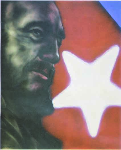 Antonio Guerrero's painting of Cuban leader Fidel Castro.