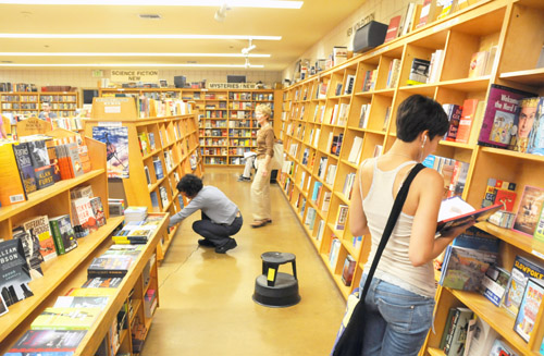 The venerable Moe's Books on Telegraph Avenue boasts four floors of new and used books.