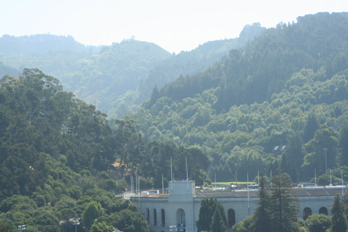 UC Berkeley's Memorial Stadium stands at the mouth of Strawberry Canyon.