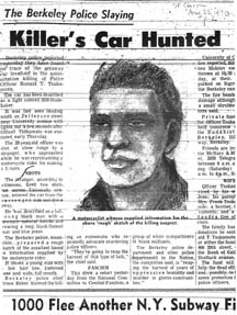 The police composite sketch of the murder suspect as published in the San Francisco Chronicle in August 1970.e