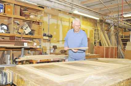 Author and woodworker John Curl in his West Berkeley shop.