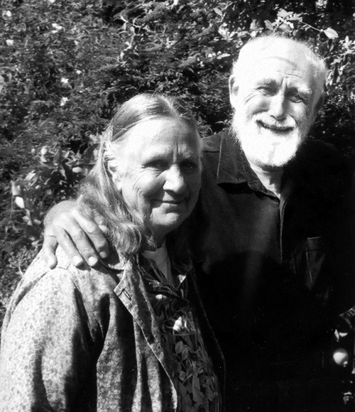 Carrie and Stan Sprague in their garden a few years ago.