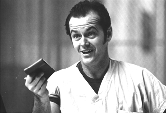 "Jack Nicholson stars in ""One flew over the Cuckoo's Nest,"" which is being released with the help of Berkeley's Saul Zaentz Film Center on DVD this week."