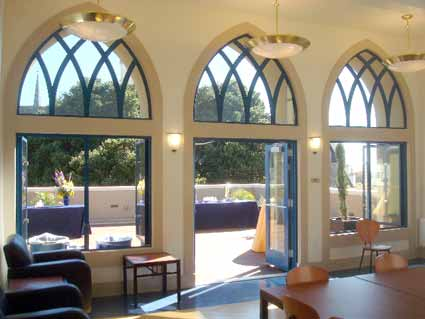 The fourth floor of the building includes an expansive deck connected