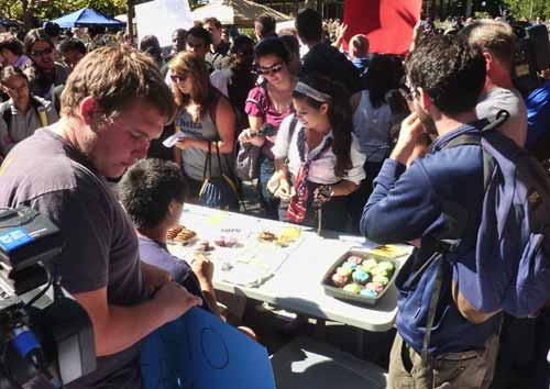 "UC Berkeley's College Republicans spiced up their campus yesterday with a controversial ""bake sale""."