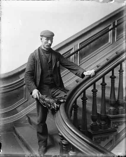 James Tait on the stairs of North Hall.