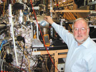 Above: Neville Smith, scientific director for the Lawrence 