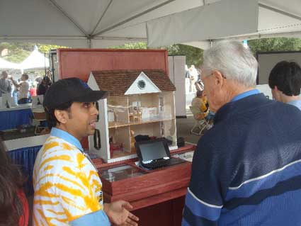 A model house helped illustrate aspects of residential energy efficiency.