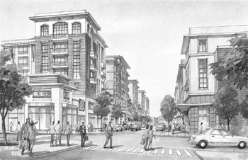 Emeryville's Bay Street development will begin opening next month.