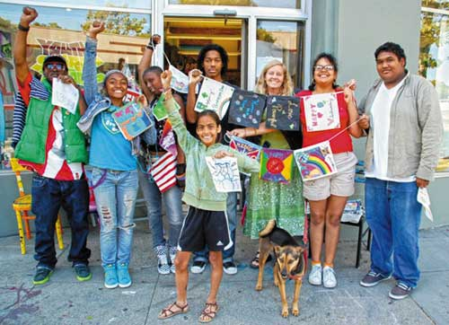 Staff, board members and young artists of Youth Spirit Artworks have chosen to create a new partnership with Street Spirit. Photo by YSA