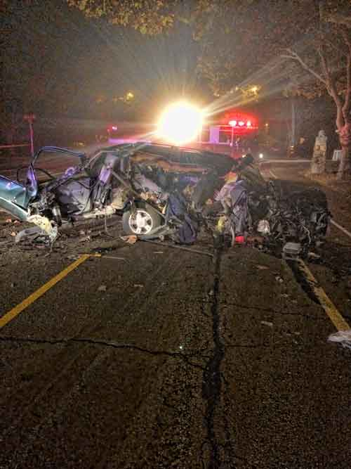 Attempted murder suspect's car after crash during police chase