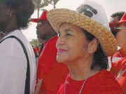 Labor activist Dolores Huerta has thrown her support behind Berkeley's controversial coffee