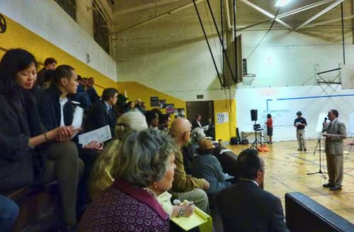 About 40-45 community members and West Campus neighbors attended the meeting.