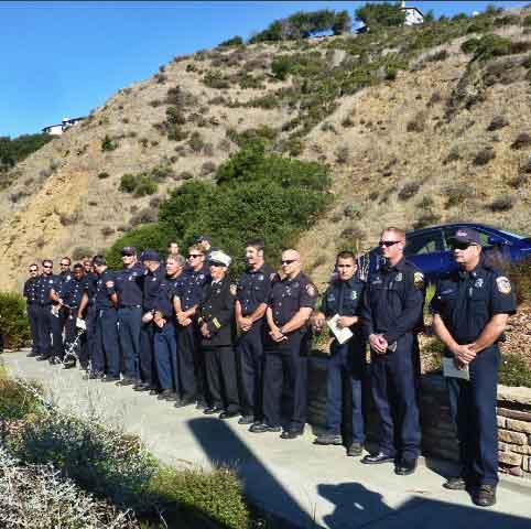 Firefighters from several jurisdictions attended the ceremony.