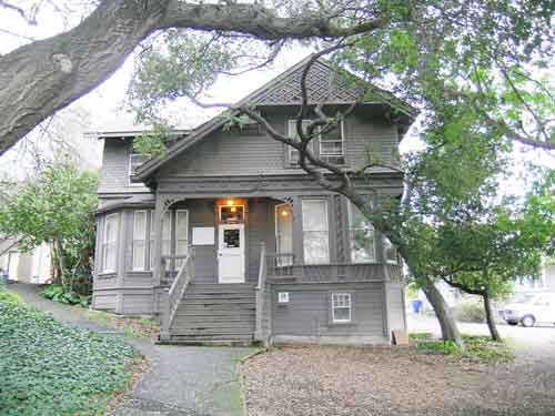 Warren and May Cheney's house at 2241 College Ave. was built in 1885. Built in the Stick-Eastlake style, the Cheney house is the second oldest surviving structure in the Berkeley Property Tract.