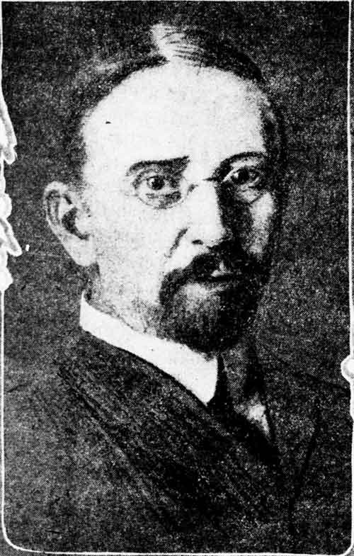 This portrait of Warren Cheney was published in the San Francisco Call, Apr. 9, 1905, accompanied a long review of his novel The Way of the North.