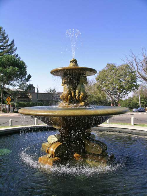 The restored fountain at Marin Circle is maintained by neighborhood volunteers.