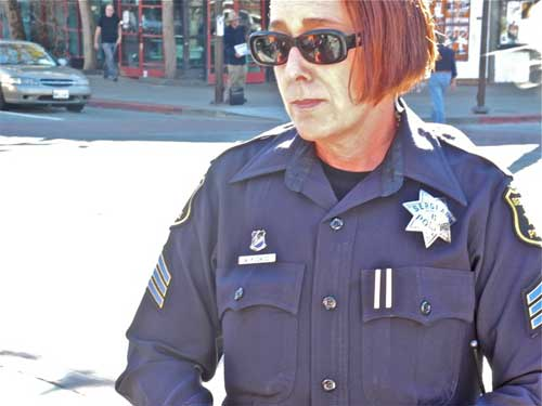 Sgt. Mary Kusmiss, watch supervisor, shows up to supervise.