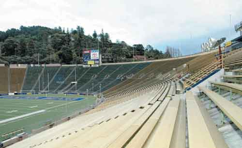 According to California's Omnibus Act of 2009, UC Berkeley's Memorial Stadium site, atop the Hayward Fault, is exempt from the Alquist-Priolo Fault Zoning Act, which prohibits most new construction on earthquake faults.