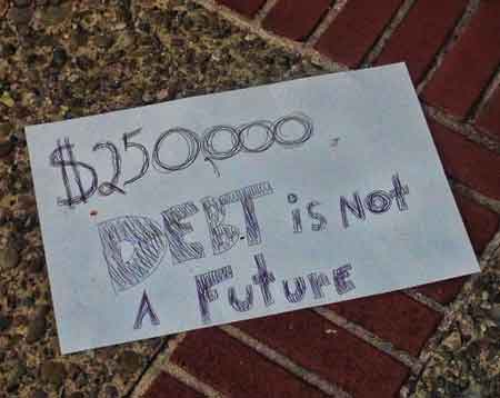 """$250,000 DEBT Is Not A Future."""