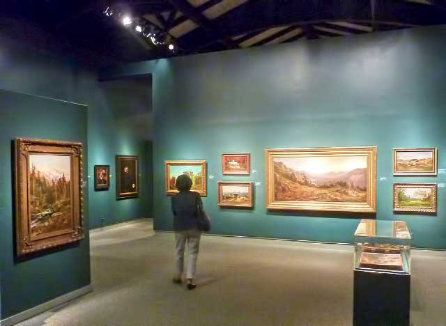 A succession of green-walled galleries display 120 works of art by California's master landscape painter, William Keith, through December 18.