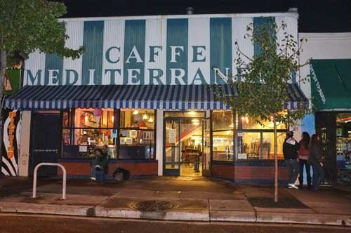 Before the Unitarian Turkey-feed, Thanksgiving at Caffe Mediterraneum, on Telegraph Avenue