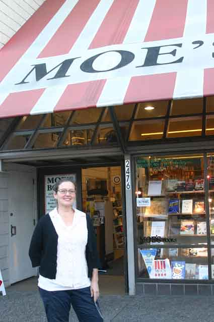 Doris Moskowitz of Moe's Books says Bus Rapid Transit would have a harmful affect on the venerable Telegraph Avenue store.
