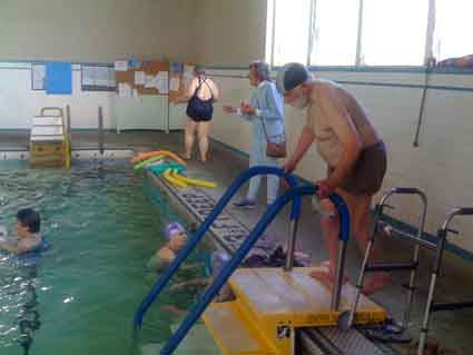 Senior pool users at the Berkeley High warm water pool. <i>(File photo.)</i>