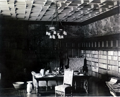 Charles C. Hall's sumptuous library at 2425 Hillside Ave.