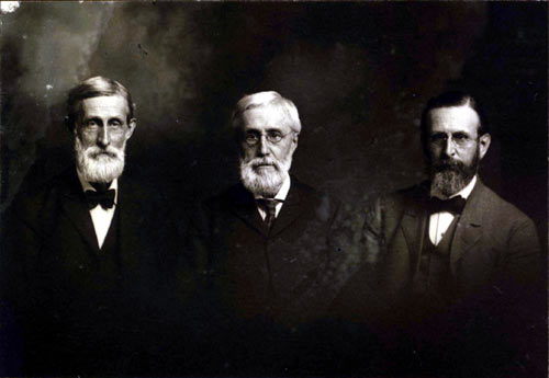 The Hall brothers, Francis, Frederick, and Charles.