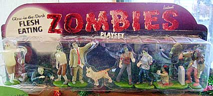 Flesh-eating Zombies Playset.