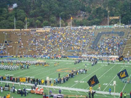 Damp Memorial Stadium was only about half filled when the Golden