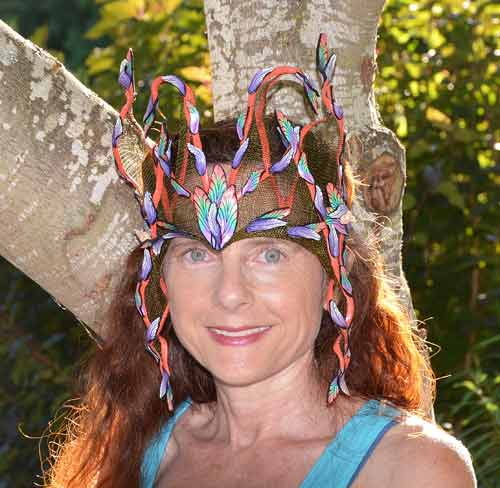 Artist Arbel Shemesh wearing her Fairy Crown.