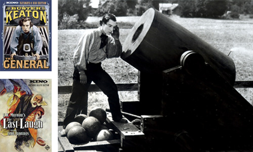 Buster Keaton's The General and F.W. Murnau's The Last Laugh have been re-released by Kino in new two-disc editions.