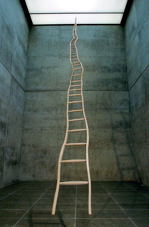 Martin Puryear's Ladder for Booker T. Washington (1996).