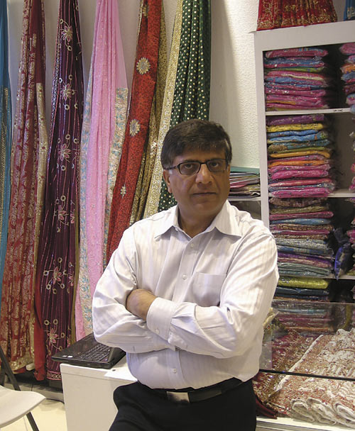 Anil Thakkar, owner of Sari Palace on University Avenue, lost a family friend in the  Mumbai terrorist attacks.