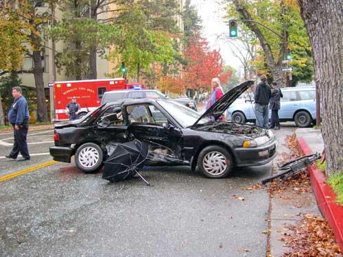 Thursday Morning Crash on College Ave. Injures Three