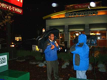Channel 2 reporter Kraig Debro reported early Wednesday morning on McDonald's hold-up.
