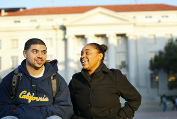 Jakob Schiller: UC Berkeley is ending visiting student status for students like Danté Green and his girlfriend Krystina Brown, both 20, students at Xavier University in New Orleans who came to Berkeley after Hurricane Katrina closed their school..