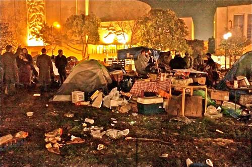 What the police will evict, if they do, Wednesday night in Occupy Berkeley.