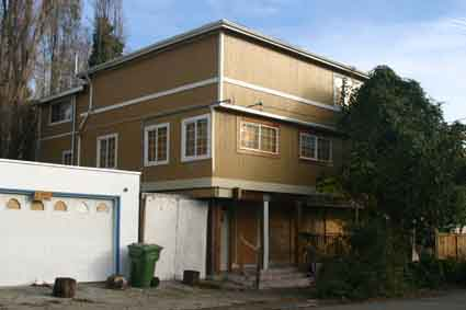Rash Ghosh's property at 2507-2509 McGee Ave. which the city of Berkeley has boarded up due to code violations.